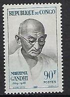 """Congo YT 206 """" Mahatma Gandhi """" 1967 Neuf** - Neufs"""