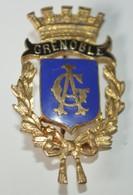 Rare Insigne Ville De Grenoble 2 X 3.5 Cm - Sonstige