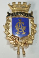 Rare Insigne Ville De Grenoble 2 X 3.5 Cm - Badges & Ribbons