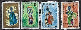 """Congo YT 207 à 210 """" Poupées """" 1967 Neuf** - Neufs"""