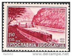"Jugoslavija 1939: ""Steam Locomotive à Vapeur"" Michel-No. 372 ** MNH (Michel 4.00 Euro) Out Of Set! - Trains"