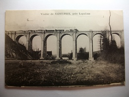 Carte Postale Environs De Lapalisse (03) Viaduc De Saint Prix (Chemin De Fer ,Train ) (Petit Format Correspondance 1925) - Lapalisse