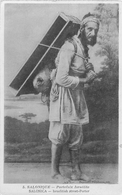 PORTEFAIX ISRAELITE - SALONIQUE - TURQUIE - GRECE - JUDAICA - CPA ECRITE EN 1917 - Europe