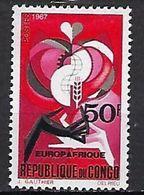 """Congo YT 212 """" Europafrique """" 1967 Neuf** - Neufs"""