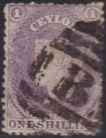 Ceylon       .   SG      .  71ax  Wmk Reversed     .      O     .    Cancelled     .   /    .   Gebruikt - Ceylon (...-1947)