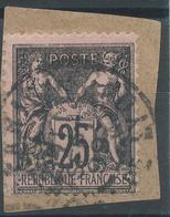 Lot N°48305  N°97/fragment, Oblit Cachet à Date De PARIS (GARE De LYON) - 1876-1898 Sage (Type II)