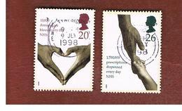 GRAN BRETAGNA.GREAT BRITAIN -  SG 2046.2047  -  1998  NATIONAL HEALTH SERVICE   - USATI - 1952-.... (Elisabetta II)