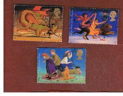 GRAN BRETAGNA.GREAT BRITAIN -  SG 2050.2052  -  1998  FAMOUS FANTASY NOVELS   - USATI - 1952-.... (Elisabetta II)