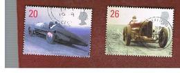 GRAN BRETAGNA.GREAT BRITAIN -  SG 2059.2060  -  1998 BRITISH  LAND SPEED  RECORD HOLDERS   - USATI - 1952-.... (Elisabetta II)