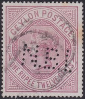 Ceylon       .   SG      .  201b  Perfin      .      O     .    Cancelled     .   /    .   Gebruikt - Ceylon (...-1947)