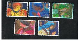 GRAN BRETAGNA.GREAT BRITAIN -  SG 2064.2068  -  1998 CHRISTMAS: ANGELS (COMPLET SET OF 5)   - USATI - 1952-.... (Elisabetta II)