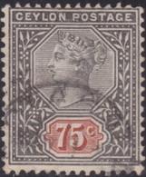 Ceylon       .   SG      .  262     .      O     .    Cancelled     .   /    .   Gebruikt - Ceylon (...-1947)