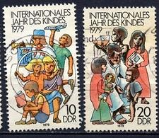 Allemagne Démocratique - Germany - Deutschland 1979 Y&T N°2087 à 2088 - Michel N°2422 à 2423 (o) - Année De L'enfant - [6] République Démocratique