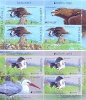 2019. Moldova, Europa 2019, National Birds, 2 Booklet-panes, Mint/** - Moldova