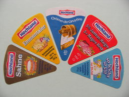 Etiquettes Fromage Fondu - HOCHLAND - 5 Portions Schmelzkase Lindenberg - Allemagne   A Voir ! - Quesos