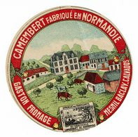 """Et. Camembert De Normandie """" Gaston FROMAGE """" Mesnil Baclay - Quesos"""