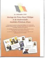 Mariage Du Prince Royal Philippe Et Mademoiselle Mathilde D'Udekem D'Acoz - 1991-00