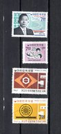 Corea Del Sur  1967  .   Y&T  Nº    465/466-467-468 - Corea Del Sud
