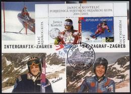 Croatia Zagreb 2001 / Janica Kostelic Winner Of The Alpine Skiing World Cup 2000./2001. - Ski
