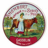 Et. Camembert Fabriqué En Beauce Et Perche - GASSELIN (Brou) - Quesos