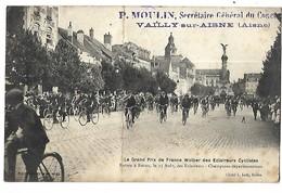 51 GRAND PRIX DE FRANCE DES ECLAIREURS CYCLISTES ENTREE A REIMS LE 15 AOUT CPA 2 SCANS - Reims