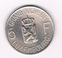 5 FRANCS 1962 LUXEMBURG /3528/ - Luxembourg