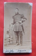 Photo Vers 1900 Officier Pompier Adolphe Signor à Ronse / Renaix - Métiers