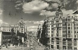 """Valencia (Spagna) Avenida Del Marques De Sotelo, Marques De Sotelo Avenue, Stamp """"F. Franco 70 Cts 1953"""" - Valencia"""
