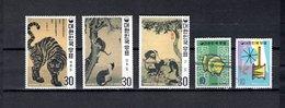 Corea Del Sur  1970  .   Y&T  Nº    611/613-614/615 - Corea Del Sud