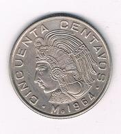 50 CENTAVOS 1964 MEXICO /3530/ - Mexique