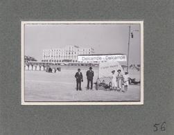 LE TOUQUET PARIS PLAGE 1920/30 - Photo Originale Du Char à Voile  N°33 '' L'Aéro Skiff '' Sur La Plage ( Pas De Calais ) - Luoghi