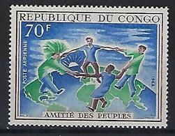 "Congo Aerien YT 63 (PA) "" Amitiés Des Peuples "" 1968 Neuf** - Neufs"