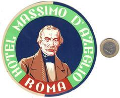 ETIQUETA DE HOTEL  - HOTEL MASSIMO D'AZEGLIO  -ROMA  -ITALIA - Hotel Labels