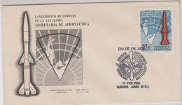 Argentina 1966 Lanzamiento De Cohetes En La Antartida  1v FDC (42457) - Argentinië