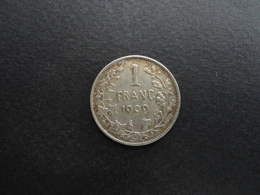 TRES BELLE MONNAIE DE 1 FRANC LEOPOLD II 1909 ROI DES BELGES ARGENT SILVER BELGIQUE - 07. 1 Franc