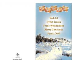 Carte De Voeux Avec Timbre De Noël - 2000 - Aland - Aland