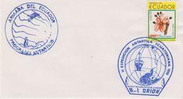 Ecuador 1990 II-Expedicion Antarctica Ecuatoriana B-I Orion Cover (42457) - Postzegels