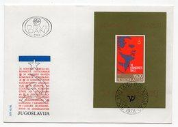 YUGOSLAVIA, FDC, 20.06.1978, COMMEMORATIVE ISSUE: 11TH CONGRESS SKJ, SOUVENIR SHEET-BLOCK - 1945-1992 Socialist Federal Republic Of Yugoslavia