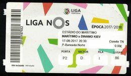 Portugal Ticket Billet Football Club Sport Marítimo Vs Dinamo Kiev Liga Nos - Eintrittskarten