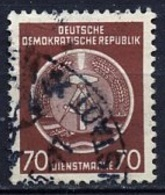 Allemagne Démocratique - Germany - Deutschland Service 1954 Y&T N°S16 - Michel N°D16 (o) - 70p Armoirie - Service