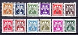 Boheme Et Moravie 1943 Mi D 13-24 (Yv TS 13-24), (MNH)** - Bohemia & Moravia