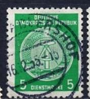 Allemagne Démocratique - Germany - Deutschland Service 1955 Y&T N°S18 Type 2 K13 - Michel N°D18I (o) - 5p Armoirie - Service