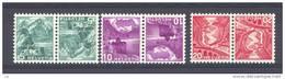 Suisse  -  1936  :  Yv  290c-93c  *     Tête-bêche - Tête-Bêche
