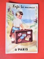 Carte A Systeme PARIS - Enfin Les Vacances - 10 Vues Dans La Valise - TBE - France