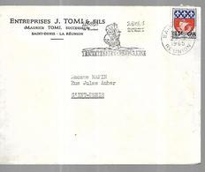 Réunion Lettre Du 20 09 1965  Entreprises  J Tomi & Fils De Saint Denis - Réunion (1852-1975)