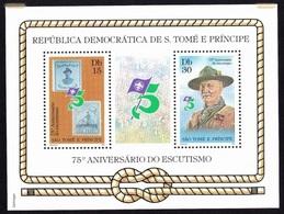 SCOUT / SCOUTING, Escuteiros 75º Aniversário - S. Tomé E Princípe 1982 // Perforated - MNH - Sao Tome Et Principe