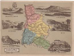 Carte Geographique De La DROME 26 - Vieux Papiers