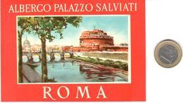 ETIQUETA DE HOTEL  - ALBERGO PALAZZO SALVIATI   -ROMA  -ITALIA - Hotel Labels