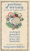 Carte Parfumée Des Parfuns D' Orsay - Parfumkaarten