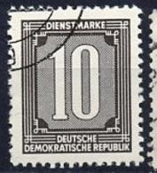 Allemagne Démocratique - Germany - Deutschland Service 1956 Y&T N°S35 - Michel N°S35 (o) - 10p Chiffre - [6] République Démocratique